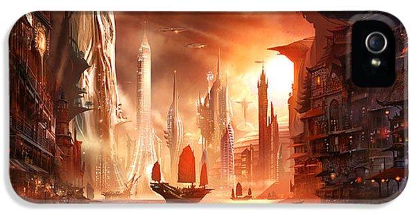 Future Harbor IPhone 5 Case by Alex Ruiz
