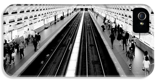Train iPhone 5 Case - Gallery Place Metro by Thomas Marchessault