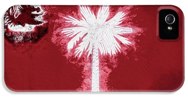 IPhone 5 Case featuring the digital art Gamecocks South Carolina State Flag by JC Findley