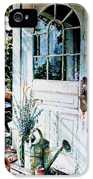 Garden Chores IPhone 5 Case by Hanne Lore Koehler