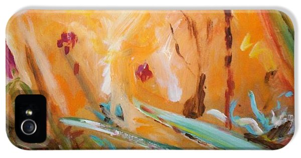IPhone 5 Case featuring the painting Garden Moment by Winsome Gunning