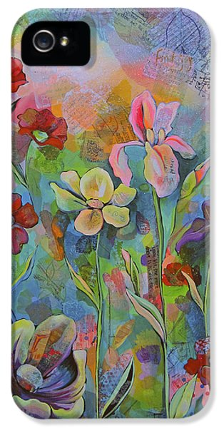 Garden Of Intention - Triptych Center Panel IPhone 5 Case