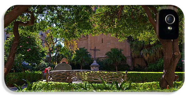 Garden Outside Malagas Cathedral IPhone 5 Case