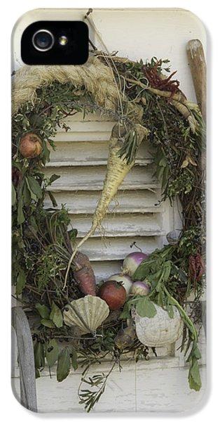 Gardeners Wreath IPhone 5 Case by Teresa Mucha