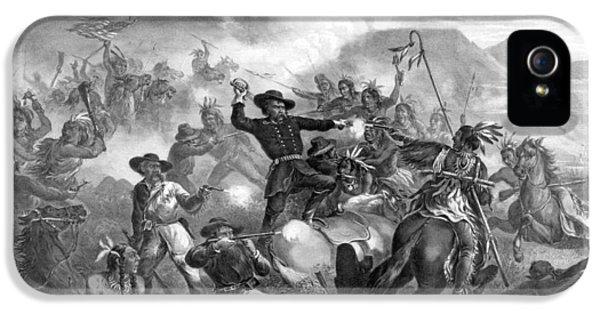 General Custer's Death Struggle  IPhone 5 Case
