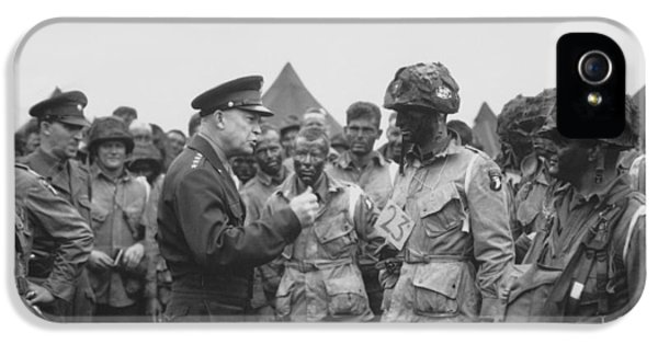 General Eisenhower On D-day  IPhone 5 Case by War Is Hell Store
