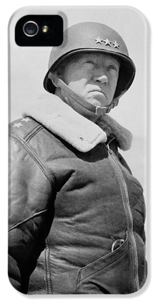 General George S. Patton IPhone 5 Case by War Is Hell Store