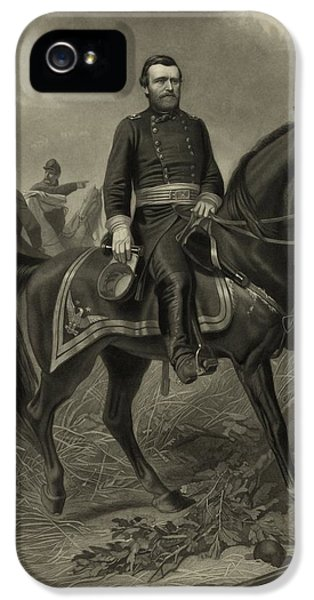 General Grant On Horseback  IPhone 5 Case by War Is Hell Store