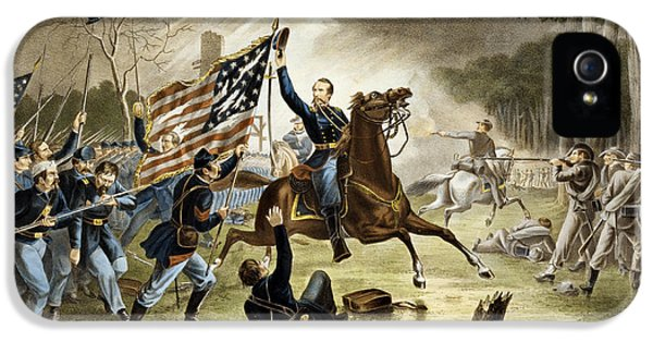 General Kearney's Gallant Charge At The Battle Of Chantilly IPhone 5 Case by Augustus Tholey