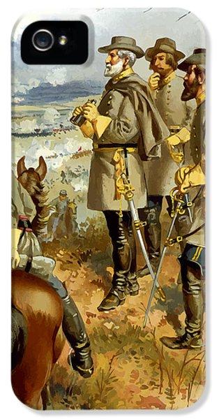 General Lee At The Battle Of Fredericksburg IPhone 5 Case