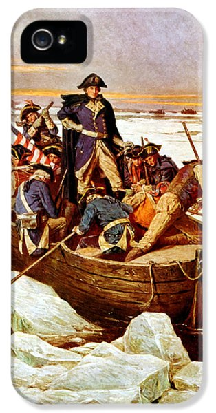 General Washington Crossing The Delaware River IPhone 5 Case by War Is Hell Store