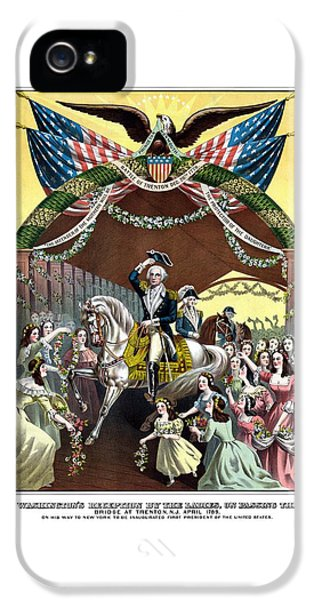 General Washington's Reception At Trenton IPhone 5 Case by War Is Hell Store