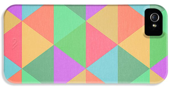 Geometric Triangles Abstract Square IPhone 5 Case by Edward Fielding