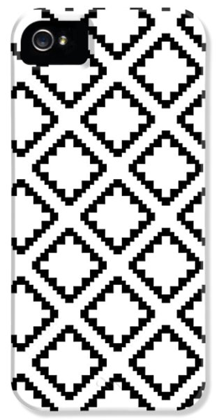 Geometricsquaresdiamondpattern IPhone 5 / 5s Case by Rachel Follett