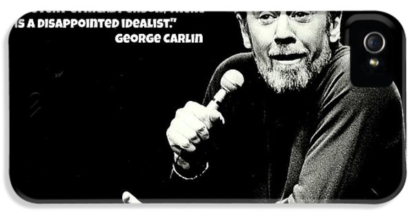 Johnny Carson iPhone 5 Case - George Carlin Art  by Pd