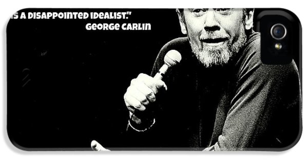 George Carlin Art  IPhone 5 Case by Pd