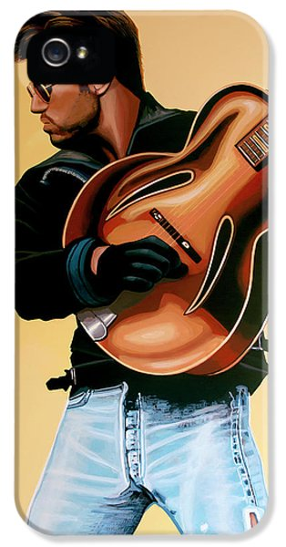 Elton John iPhone 5 Case - George Michael Painting by Paul Meijering