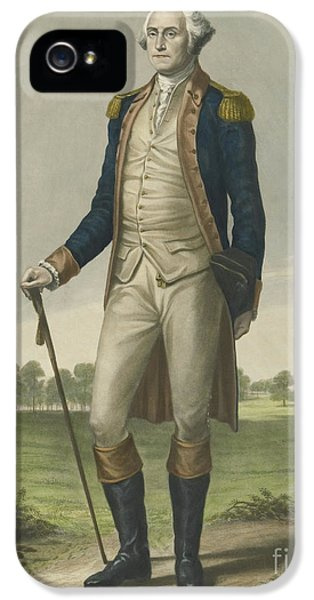 George Washington, 1859 IPhone 5 Case by Hezekiah Wright Smith