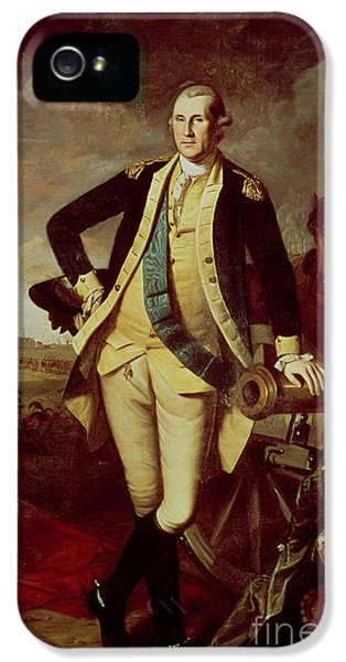 George Washington At Princeton IPhone 5 Case by Charles Willson Peale