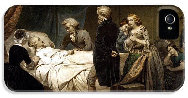 George Washington On His Deathbed IPhone 5 Case by War Is Hell Store
