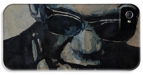 Rock And Roll iPhone 5 Case - Georgia On My Mind - Ray Charles  by Paul Lovering