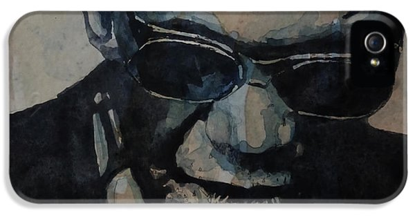 Georgia On My Mind - Ray Charles  IPhone 5 Case by Paul Lovering