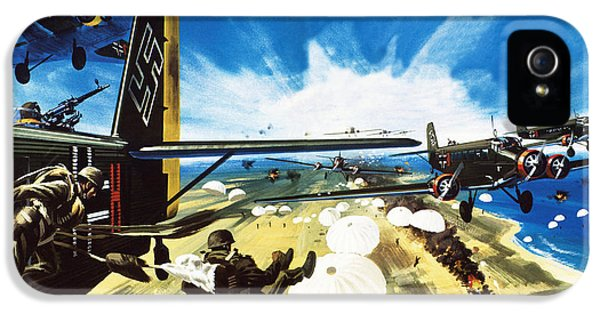 German Paratroopers Landing On Crete During World War Two IPhone 5 Case