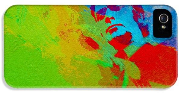 Film Watercolor iPhone 5 Cases - Get Carter iPhone 5 Case by Naxart Studio