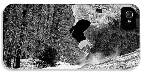 IPhone 5 Case featuring the photograph Getting Air On The Snowboard by David Patterson