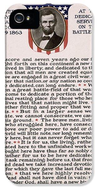Gettysburg iPhone 5 Case - Gettysburg Address by International  Images