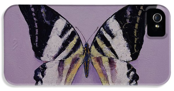 Giant Swordtail Butterfly IPhone 5 Case by Michael Creese