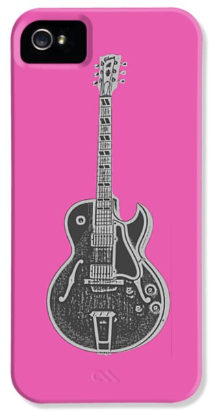 Guitar iPhone 5 Case - Gibson Es-175 Electric Guitar Tee by Edward Fielding