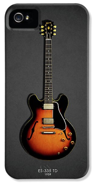 Guitar iPhone 5 Case - Gibson Es 335 1959 by Mark Rogan