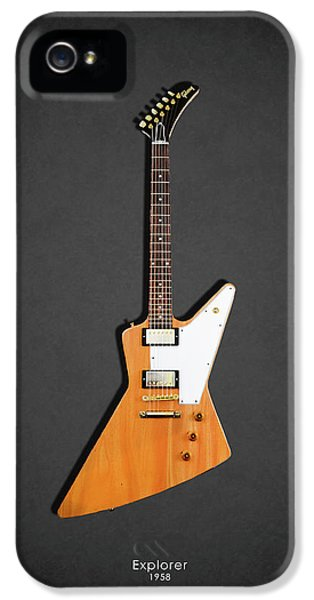 Guitar iPhone 5 Case - Gibson Explorer 1958 by Mark Rogan
