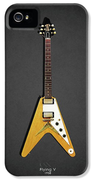 Guitar iPhone 5 Case - Gibson Flying V by Mark Rogan