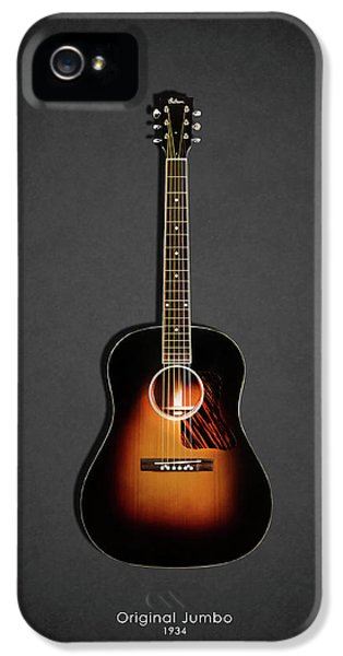 Guitar iPhone 5 Case - Gibson Original Jumbo 1934 by Mark Rogan
