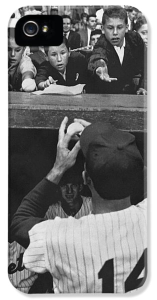 Gil iPhone 5 Case - Gil Hodges Baseball Fans by Underwood Archives