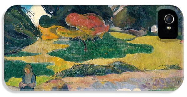 Girl Herding Pigs IPhone 5 / 5s Case by Paul Gauguin