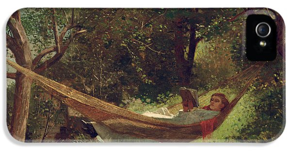Girl In The Hammock IPhone 5 Case by Winslow Homer