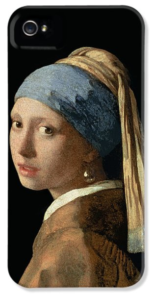 Portraits iPhone 5 Case - Girl With A Pearl Earring by Jan Vermeer