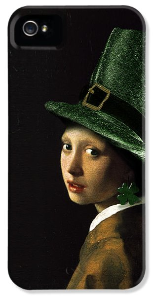 Girl With A Shamrock Earring IPhone 5 Case