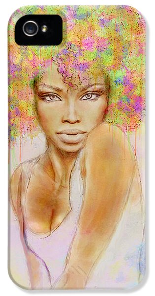 Girl With New Hair Style IPhone 5 / 5s Case by Lilia D