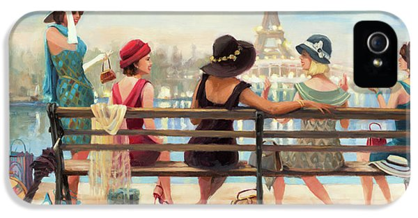 Eiffel Tower iPhone 5 Case - Girls Day Out by Steve Henderson