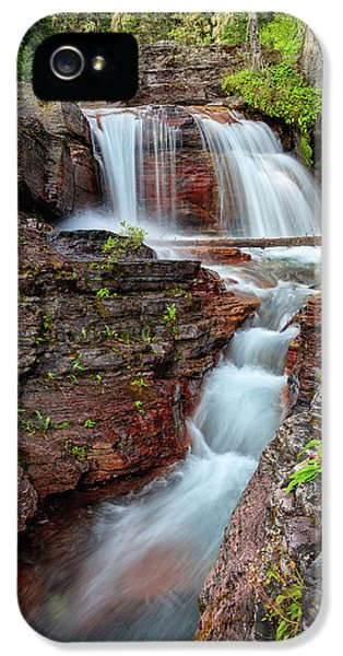 Glacier National Park Waterfall 2 IPhone 5 Case