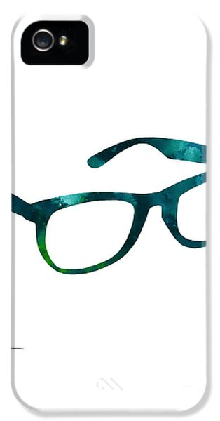 Glasses Silhouette  Watercolor Art Print Poster IPhone 5 Case