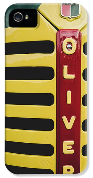 Oliver Tractor iPhone 5 Case - Gleaming Oliver by Jim Love