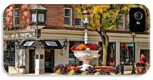 IPhone 5 Case featuring the painting Glen Ellyn Watering Fountain by Christopher Arndt
