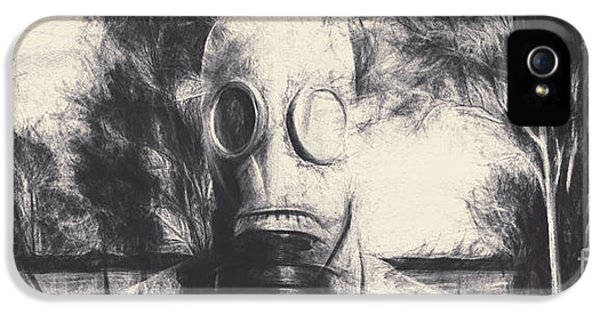Breathe iPhone 5 Case - Vintage Gas Mask Terror by Jorgo Photography - Wall Art Gallery
