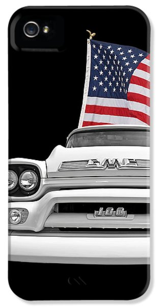 Gmc Pickup With Us Flag IPhone 5 Case
