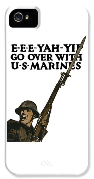 Go Over With Us Marines IPhone 5 Case by War Is Hell Store